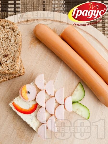 Детски сандвич Рибка - снимка на рецептата